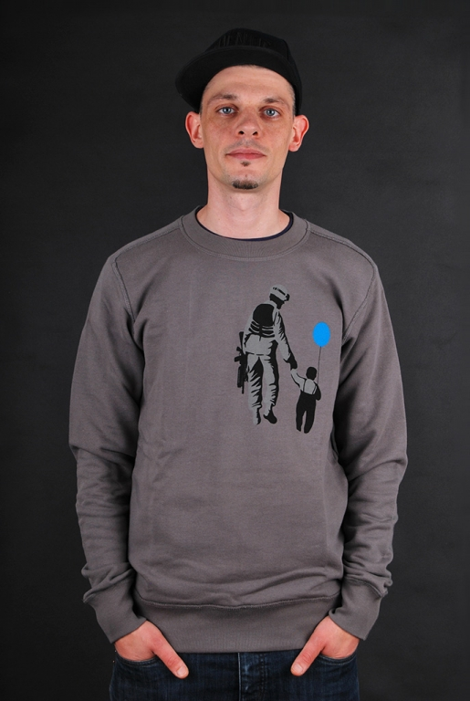 500Godz Sweater Welcome To The Army Grey S