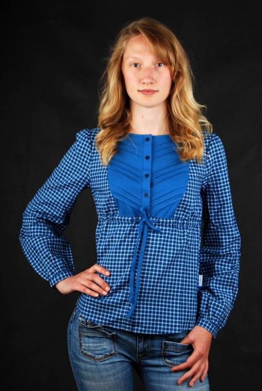 Adidas Originals Woven Shirt Strong Blue Bluse Gr.40