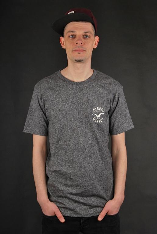 Cleptomanicx Freck Printed Heather Black T-Shirt