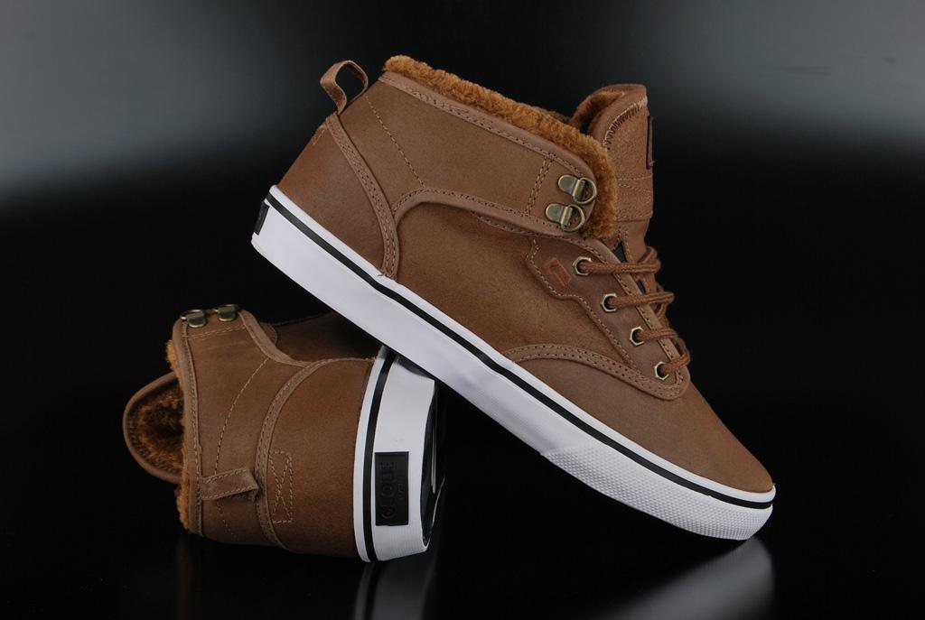 Globe Sneaker Motley Mid Distressed Brown Fur Winter Sneaker US12/EU46