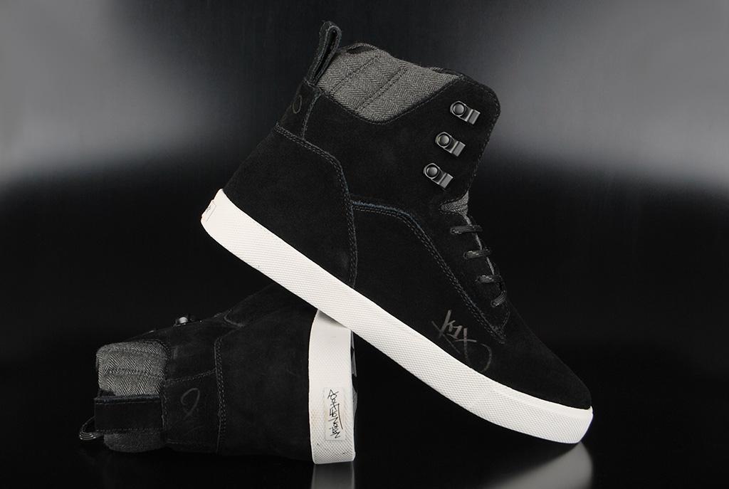 K1X State Le Black Dark Grey High Top Sneaker US12/EU46