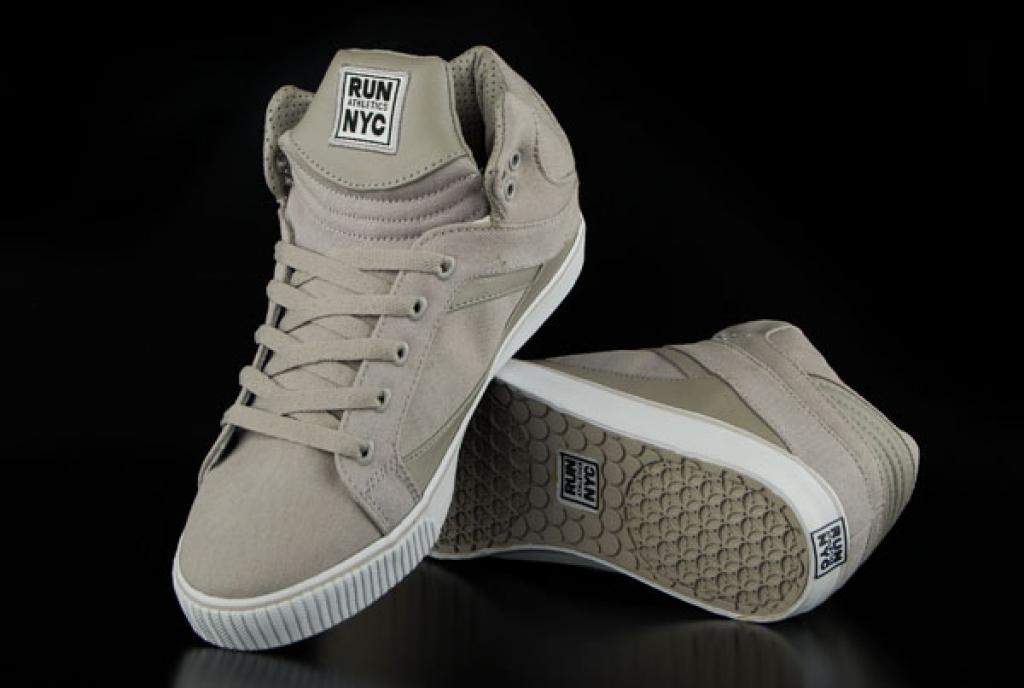 Run Nyc Schuhe Sire Hi Grey Sneaker US9,5