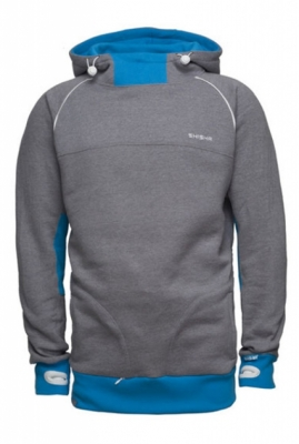 Shisha Hooded STORM Fijiblue/DarkAsh Pullover Boys
