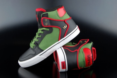 Supra Kids Vaider Black Forest Green White Schuh