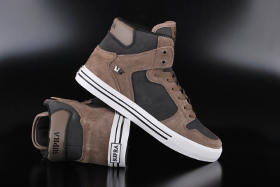 Supra Vaider Morel Black White High Top Sneaker