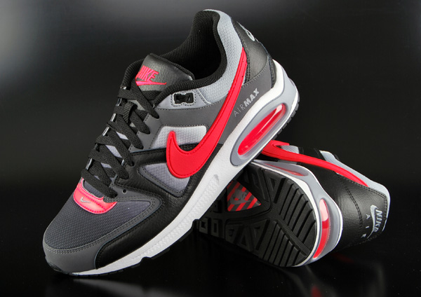 nike air max command schwarz rot grau sneaker schuhe ebay. Black Bedroom Furniture Sets. Home Design Ideas