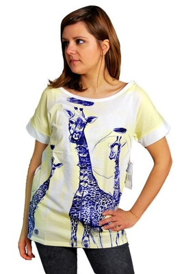 ELEMENT Giraffeyes T-Shirt White Lisa Solberg Conscious by Nature Collection Girls M