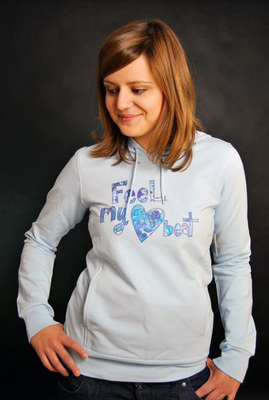 Element Girls Hoodie Heart Beat Baby Blue Girls