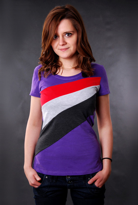 Damen T-Shirt Sublevel Royal Purple