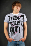 Sublevel T-Shirt Freak Out White
