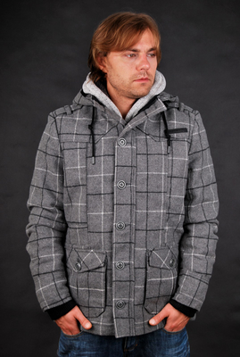 Sublevel Herren WollJacket Grey Heather