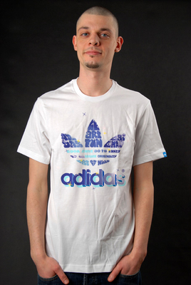 Adidas T-Shirt Logo Graphic Tee WE R FUN White L