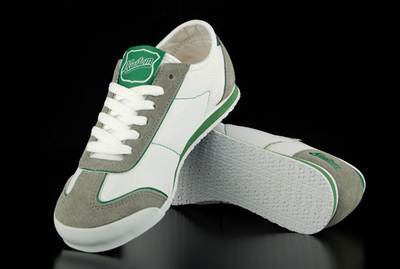 Kustom Jessica White Green Shoe