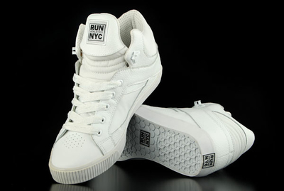 Run Nyc Sneaker Sire Hi White Leather Shoe