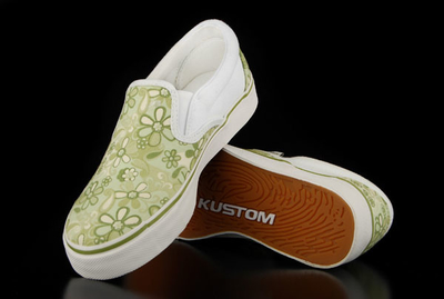 Kustom Prairy Green Slip On Shoe