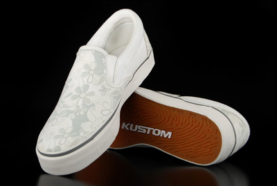 Kustom Prairy White Slip On Sneaker
