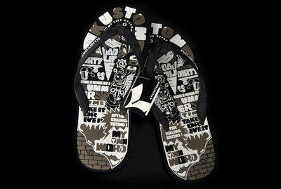 Kustom Billabong Respect Some Black Sandals