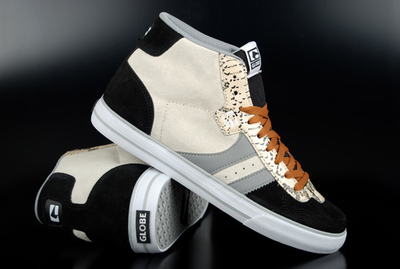 Globe Skaterschuh Encore 2 Hi Black Grey Snake