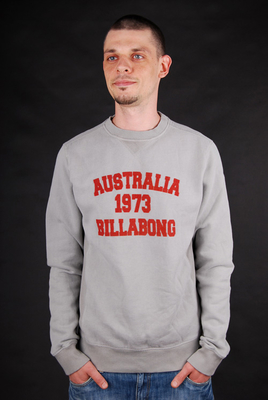 Billabong Pullover University CR Elephant Grey Sweatshirt