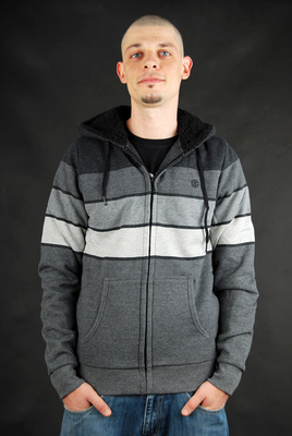 ELEMENT Landon Grey Full-Zip Hooded Sweatjacke