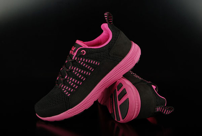 Supra Girls Sneaker Owen Black Magenta Running Shoes