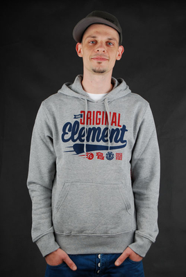 Element Pullover The Og Script Hoodie Grey Heather sz. S