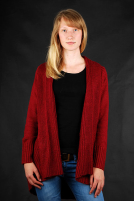 Element Knitted Sanfran Crimson Red Cardigan