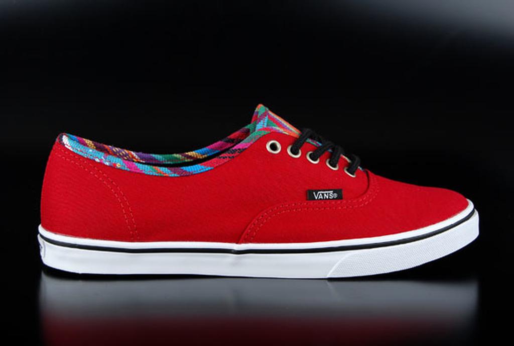 Vans Authentic Lo Pro Stripe Binding Chili Pepper