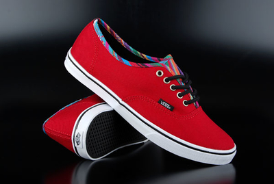 Vans Authentic Lo Pro Stripe Binding Chili Pepper Schuh