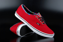 Vans Authentic Lo Pro Stripe Binding Chili Pepper Shoe