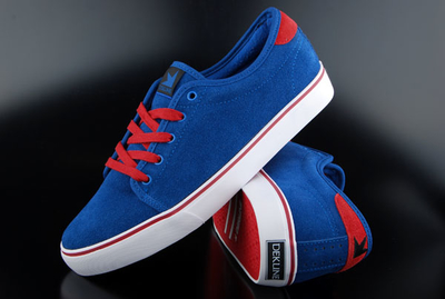 Dekline Santa Fe Suede True Blue Red Schuh