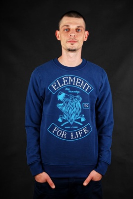 Element Sweater Timber Bear Crew Indigo Pullover