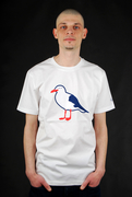 Cleptomanicx Basic T-Shirt Gull White