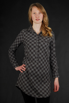 Roxy Forever Plaid Black Shirt Dress