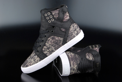 Supra Womens Skytop Snake Black White
