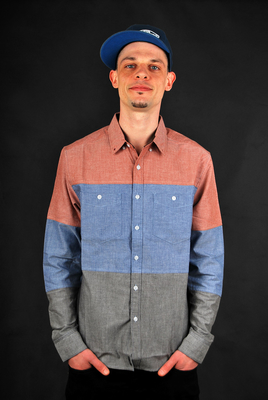 Billabong Hemd Newark Chambray LS Blue S