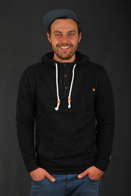 Billabong Rasta Pullover Fleece Black Hoodie
