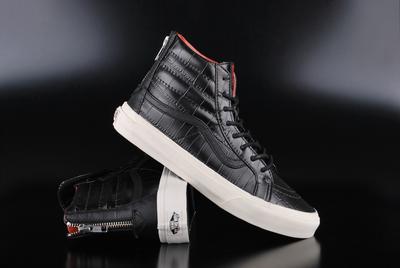 961bd6b8cb Vans Sk8-Hi Slim Zip (Croc Leather) Black