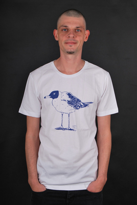 Cleptomanicx Lonely Gull White T-Shirt