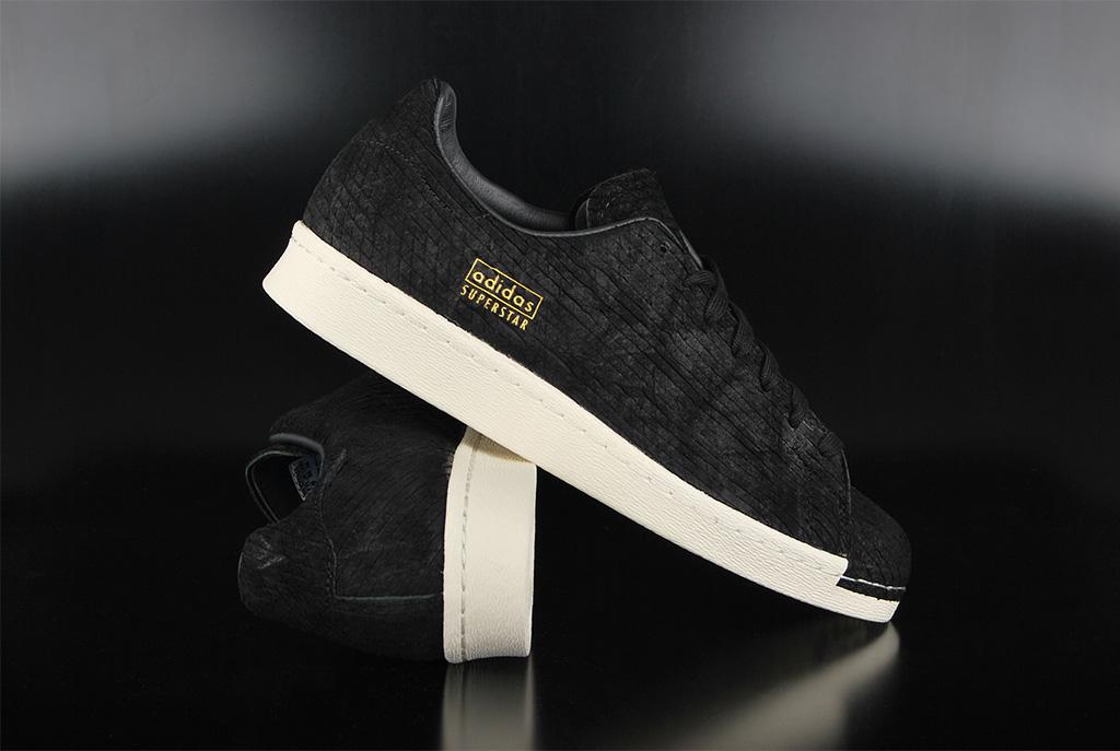 adidas originals superstar 80s clean black off white sneaker. Black Bedroom Furniture Sets. Home Design Ideas