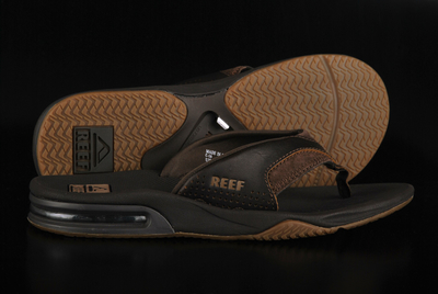 Reef Leather Fanning Brown Sandale