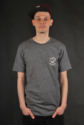 Cleptomanicx Freck Printed Heather Black T-Shirt