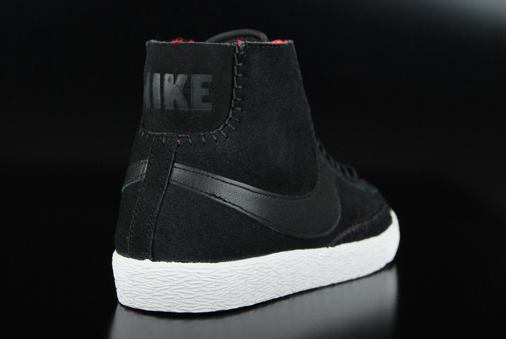 Nike Womens Blazer Mid Premium Athletic Sneakers Black Shoes 403729-007 9befc3a74