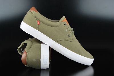 Globe Willow Burnt Olive Canvas Sneaker