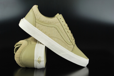Vans Old Skool Embossed Suede Grey Green Marshmallow Sneaker