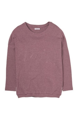 Cleptomanicx Henni Dark Purple Crewneck