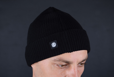 Element Flow II All Black Beanie Mütze