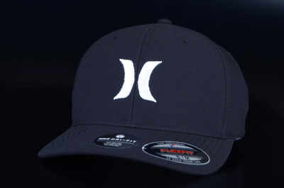 Hurley Dri Fit One & Only Flexfit Black White Cap