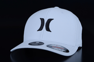 Hurley Dri Fit One & Only Flexfit Wolf Grey Black Cap