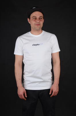 Cleptomanicx Hubert White Basic T-Shirt